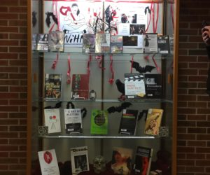 Women in Horror Month Display at Wichita State University
