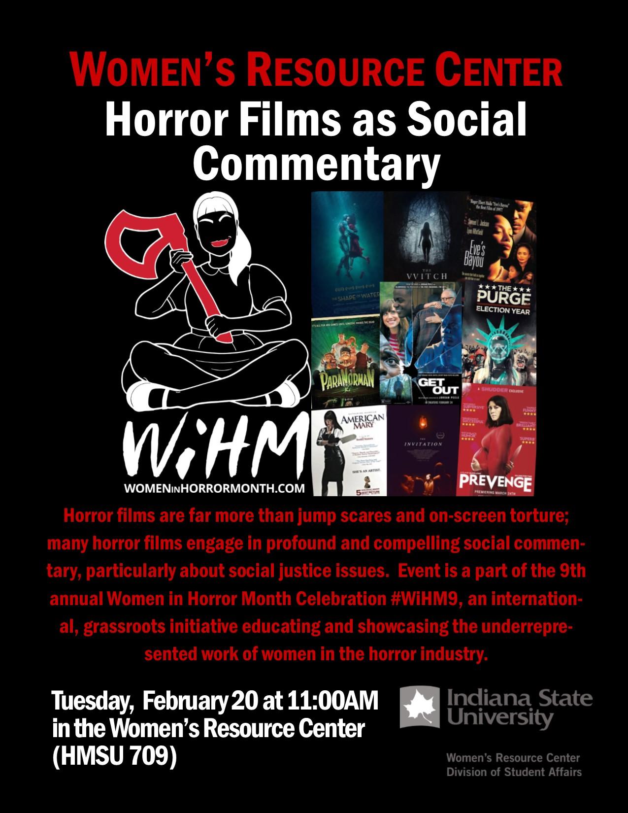 Horror Films as Social Commentary (Terre Haute, IN)